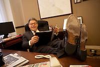 04 Nov 2009, Washington, DC, USA --- Senator Al Franken in his offices in Washington DC. | Location: Washington, USA. --- Image by © Owen Franken/Corbis