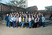 Math department students and faculty pose for a portrait on April 1, 2019. Photo by Hannah Ruhoff