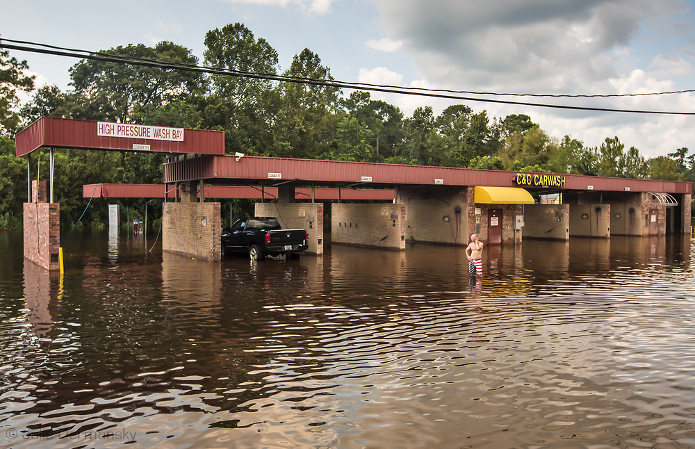 Sept 1, 2017, flooded carwash in Vidor, Texas. Hurricane Harvey, was downgraded to a tropical storm when it flooded Vidor, Texas and the surrounding area.