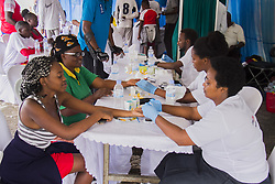 KIGALI, Dec. 1, 2019  People receive free medical check-ups during the activities marking the World AIDS Day in Kigali, capital of Rwanda, on Dec. 1, 2019. Rwanda joined the rest of the world to mark the World AIDS Day with special car-free day activities in Kigali on Sunday. (Photo by Cyril Ndegeya/Xinhua) (Credit Image: © Cyril Ndegeya/Xinhua via ZUMA Wire)
