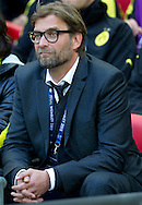 Jurgen Klopp trainer coach of Dortmund before the UEFA Champions League Final football match between Borussia Dortmund and Bayern Munich at Wembley Stadium in London on May 25, 2013...England, London, May 25, 2013..Picture also available in RAW (NEF) or TIFF format on special request...For editorial use only. Any commercial or promotional use requires permission...Photo by © Adam Nurkiewicz / Mediasport