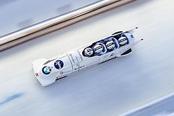 17.12.2017, Olympia Eisbahn, Igls, AUT, BMW IBSF Weltcup und EM, Igls, Viererbob, 2. Lauf, im Bild Oskars Kibermanis, Janis Jansons, Matiss Miknis, Raivis Zirups (LAT) // Pilot Oskars Kibermanis with Janis Jansons Matiss Miknis Raivis Zirups of Latvia during 2nd run of four-man Bobsleigh competition of BMW IBSF World Cup and European Championship at the Olympia Eisbahn in Igls, Austria on 2017/12/17. EXPA Pictures © 2017, PhotoCredit: EXPA/ Johann Groder