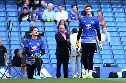 Asmir Begovic of Chelsea and Thibaut Courtois of Chelsea warm up - Mandatory by-line: Robbie Stephenson/JMP - 15/08/2016 - FOOTBALL - Stamford Bridge - London, England - Chelsea v West Ham United - Premier League