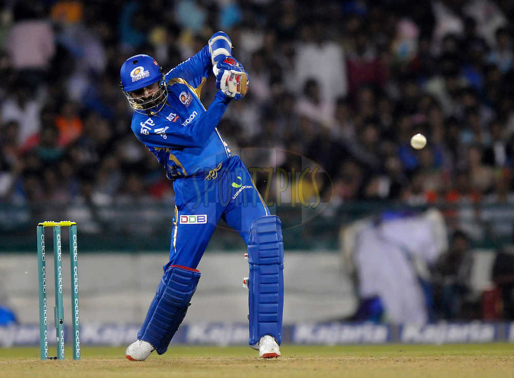 Harbhajan Singh of Mumbai Indians bats during the qualifier 2 match of the Oppo Champions League Twenty20 between the Mumbai Indians and the Lahore Lions held at the Chhattisgarh International Cricket Stadium, Raipur, India on the 13th September 2014<br /> <br /> Photo by:  Pal Pillai / Sportzpics/ CLT20<br /> <br /> <br /> Image use is subject to the terms and conditions as laid out by the BCCI/ CLT20.  The terms and conditions can be downloaded here:<br /> <br /> <br /> http://sportzpics.photoshelter.com/gallery/CLT20-Image-Terms-and-Conditions-2014/G0000IfNJn535VPU/C0000QhhKadWcjYs