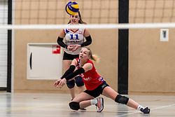 17-03-2018 NED: Prima Donna Kaas Huizen - VC Sneek, Huizen<br /> PDK verliest kansloos met 3-0 van Sneek / Geldou de Boer #11