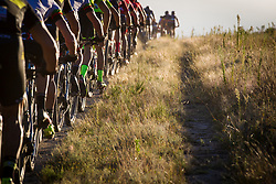 The leading riders during stage 1 of the 2017 Absa Cape Epic Mountain Bike stage race held from Hermanus High School in Hermanus, South Africa on the 20th March 2017<br /> <br /> Photo by Nick Muzik/Cape Epic/SPORTZPICS<br /> <br /> PLEASE ENSURE THE APPROPRIATE CREDIT IS GIVEN TO THE PHOTOGRAPHER AND SPORTZPICS ALONG WITH THE ABSA CAPE EPIC<br /> <br /> ace2016