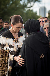March 29, 2019 - Christchurch, Canterbury, New Zealand - Thousands of people attend a National Remembrance Service for  victims of the March 15 Christchurch mosques terrorist attack. The ''We Are One'' service in Hagley Park was live-streamed worldwide and included an address by Prime Minister JACINDA ARDERN, the reading of the names of the 50 people killed, and musical performances. Representatives from nearly 60 countries attended the service under tight security. (Credit Image: © P.J. Heller/ZUMA Wire/ZUMAPRESS.com)