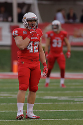 NORMAL, IL - September 08: Dylan Draka during 107th Mid-America Classic college football game between the ISU (Illinois State University) Redbirds and the Eastern Illinois Panthers on September 08 2018 at Hancock Stadium in Normal, IL. (Photo by Alan Look)