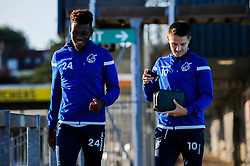 Rollin Menayese of Bristol Rovers and Tom Nichols of Bristol Rovers arrives at Memorial Stadium prior to kick off - Mandatory by-line: Ryan Hiscott/JMP - 17/09/2019 - FOOTBALL - Memorial Stadium - Bristol, England - Bristol Rovers v Gillingham - Sky Bet League One
