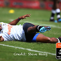 Makazole Mapimpi of the Cell C Sharks during The Cell C Sharks warm up match with the  Vodacom Bulls, at Ashton International College Albertina Way, Dolphin Coast  Ballito - Kwazulu- Natal, South Africa 9th February 2019 (Photo by Steve Haag)