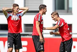 16.07.2015, Geissbockheim, Koeln, GER, 1. FBL, 1. FC Koeln, Training, im Bild Dusan Svento (1. FC Koeln #29) verpasst Jonas Hector (1. FC Koeln #14) einen Haken // during a practice session of German Bundesliga Club 1. FC Cologne at the Geissbockheim in Koeln, Germany on 2015/07/16. EXPA Pictures © 2015, PhotoCredit: EXPA/ Eibner-Pressefoto/ Schueler<br /> <br /> *****ATTENTION - OUT of GER*****