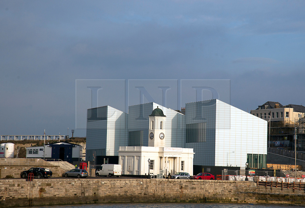 © licensed to London News Pictures. MARGATE, UK  11/04/11. General views of the Turner Contemporary and Droit House designed by David Chipperfield Architects in Margate, Kent, UK. The gallery is to be opened officially on 16th April 2011. Please see special instructions for rates. Photo credit should read MANU PALOMEQUE/LNP
