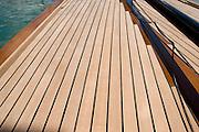 Deck details of 6 Meter Nada built by Woodstock  boatbuilders