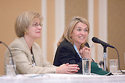 18217Ohio Women Making a Difference Conference: Sponsored by The Ohio University Foundation's Women in Philanthropy initiative...Panel..Charlotte Coleman Eufinger, Union County Probate Court Judge..& Barbara Storm Thompson(AB '76) (left)