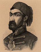 Omar Pasha ( born Michael Latas 1806-1871) Croatian-born Ottoman general. Commanded the Turkish forces during Crimean (Russo-Turkish) War 1853-1856. Engraving.