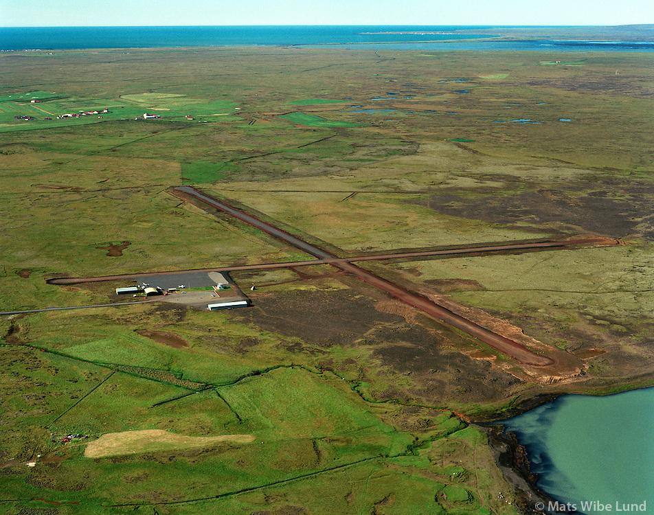 BISF Selfoss flugvöllur,séð til suðvesturs, Árborg /.BISF Selfoss airport viewing southwest, Arborg.