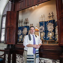 Rabbi Mike Harvey at St. Thomas Synagogue