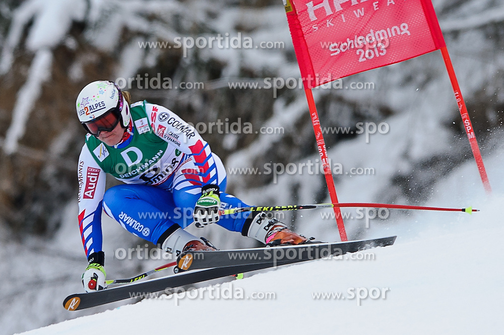 06.02.2013, Planai, Schladming, AUT, FIS Weltmeisterschaften Ski Alpin, Abfahrt, Damen, 1. Training, im Bild Marion Rolland (FRA) // Marion Rolland of France in action during 1st practice of Ladies Downhill at the FIS Ski World Championships 2013 at the Planai Course, Schladming, Austria on 2013/02/06. EXPA Pictures © 2013, PhotoCredit: EXPA/ Sandro Zangrando