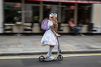 LONDON UK 30TH JULY 2016:  Prudential RideLondon Freecycle, The Strand.. The Prudential RideLondon FreeCycle event over closed roads around the city. Prudential RideLondon in London 30th July 2016.<br /> <br /> Photo: Eddie Keogh/Silverhub for Prudential RideLondon<br /> <br /> Prudential RideLondon is the world&rsquo;s greatest festival of cycling, involving 95,000+ cyclists &ndash; from Olympic champions to a free family fun ride - riding in events over closed roads in London and Surrey over the weekend of 29th to 31st July 2016. <br /> <br /> See www.PrudentialRideLondon.co.uk for more.<br /> <br /> For further information: media@londonmarathonevents.co.uk