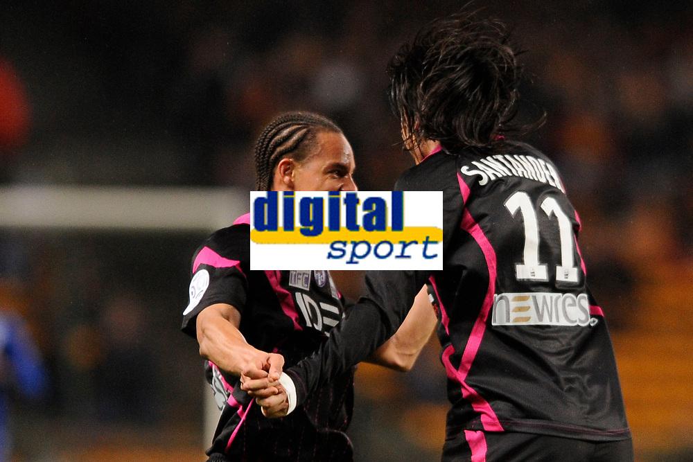 FOOTBALL - FRENCH CHAMPIONSHIP 2010/2011 - L1 - RC LENS v TOULOUSE FC  - 12/03/2011 - PHOTO JULIEN CROSNIER / DPPI - JOY SANTANDER (TFC)