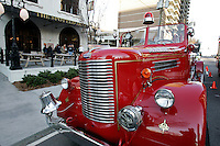 A fire truck at commemoration to mark the 60th anniversary of the Winecoff Hotel fire in downtown Atlanta. The fire--the deadliest hotel fire in U.S. history--caused departments across the country to update their fire safety codes.