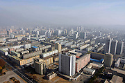 Central Pyongyang is seen in this aerial photo. Photo by Lee Jae-Won (NORTH KOREA) www.leejaewonpix.com
