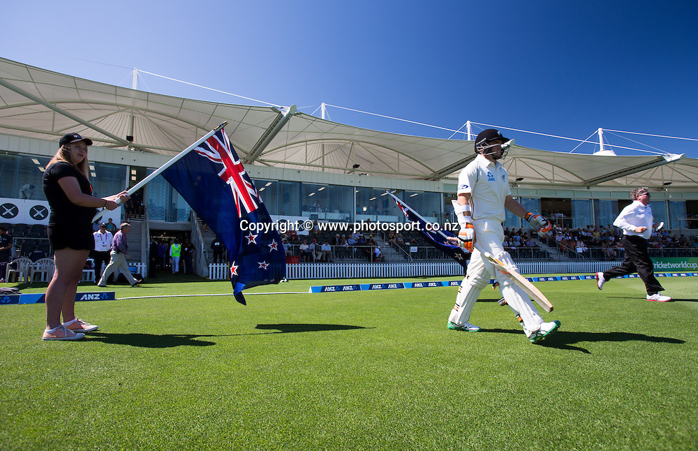 Black Cap's Tom Latham before the match. First day, ANZ Boxing Day Cricket Test, New Zealand Black Caps v Sri Lanka, 26 December 2014, Hagley Oval, Christchurch, New Zealand. Photo: John Cowpland / photosport.co.nz