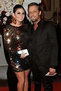 Beau Monde Awards 2012 in het Amstel Hotel, Amsterdam.<br /> <br /> Op de foto:  Roxeanne Hazes en partner