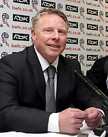 Photo: Paul Thomas.<br /> Bolton Wanderers Press Conference. 30/04/2007.<br /> <br /> New Bolton manager Sammy Lee talks to the media.