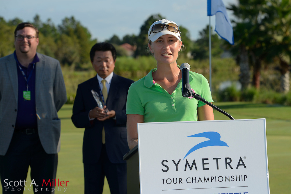 Shophia Sheridan during therain-delay final round of the Symetra Tour Championship at LPGA International on Sept. 30, 2013 in Daytona Beach, Florida. <br /> <br /> <br /> &copy;2013 Scott A. Miller