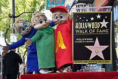Alvin and The Chipmunks Celebrate 60th Anniversary With Star On Hollywood Walk Of Fame - 15 March 20