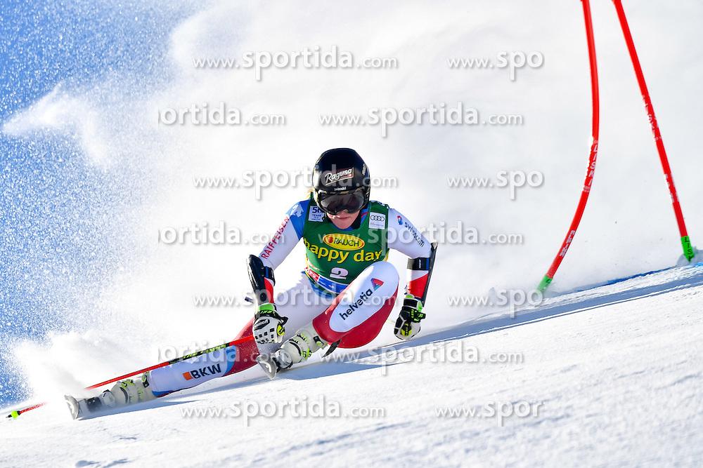 22.10.2016, Rettenbachferner, Soelden, AUT, FIS Weltcup Ski Alpin, Soelden, Riesenslalom, Damen, 1. Durchgang, im Bild Lara Gut (SUI) // Lara Gut of Switzerland in action during 1st run of ladies Giant Slalom of the FIS Ski Alpine Worldcup opening at the Rettenbachferner in Soelden, Austria on 2016/10/22. EXPA Pictures &copy; 2016, PhotoCredit: EXPA/ Nisse Schmid<br /> <br /> *****ATTENTION - OUT of SWE*****