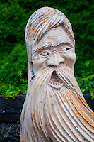 Mt. Rigi, Central Switzerland. A scary wood-carved figure with long beard on Rigi.
