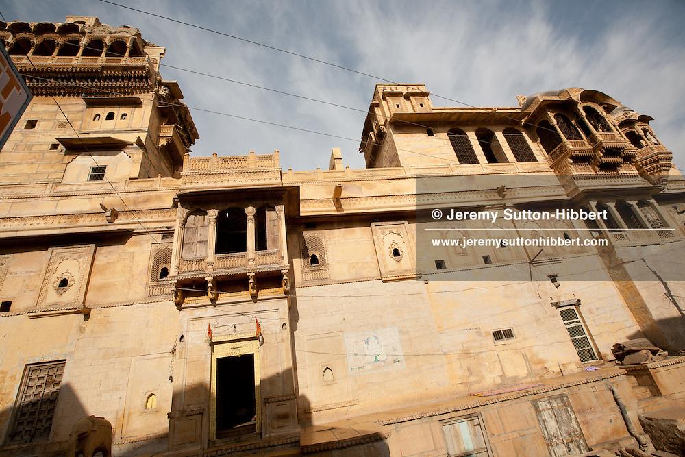 18th century Salim Singh Ki Haveli, once lived in by Salim Singh a notorious 19th century prime minister of Jaisalmer, in Jaisalmer, in Rajasthan, India, on 24th December 2011.