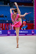 Zhumatayeva Selina during the qualication of clubs at the Pesaro World Cup 2018. Selina come from Kazakhstan, she is born in Tashkent in 1998.