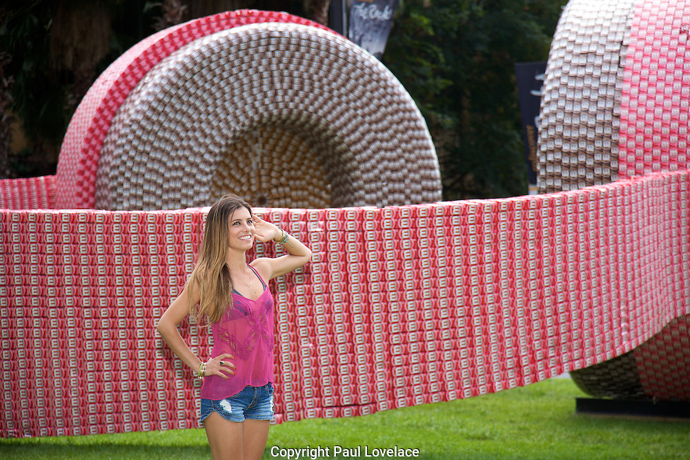 Moove launch their giant pair of Mphones, made out of 40,000 cartons of Moove [ Flavoured milk drink cartons]. The amazing sculptural masterpiece plays summer tunes to Sydney locals and tourists at Fleet Park, Circular Quay. These fully funtioning giant pair of headphones are also featured with the launch of Taste Invaders-an interactive game where players try to catch as many falling cartons as possible, with only the aid of a butterfly net, all whilst listening to summer sounds tracks being pumped out from the giant, fully functioning 'Mphones'. .