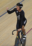 Ethan Mitchell celebrates winning the gold medal in the Men's Team Sprint Final. Track Cycling at the Glasgow Commonwealth Games. Sir Chris Hoy Velodrome, Glasgow, Scotland. Thursday 24 July 2014. Photo: Andrew Cornaga / www.Photosport.co.nz