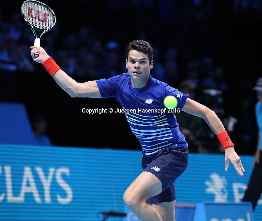 MILOS RAONIC (CAN), ATP World Tour Finals, O2 Arena, London, England.<br /> <br /> Tennis - ATP World Tour Finals 2016 - ATP -  O2 Arena - London -  - Great Britain  - 17 November 2016. <br /> &copy; Juergen Hasenkopf/Grieves