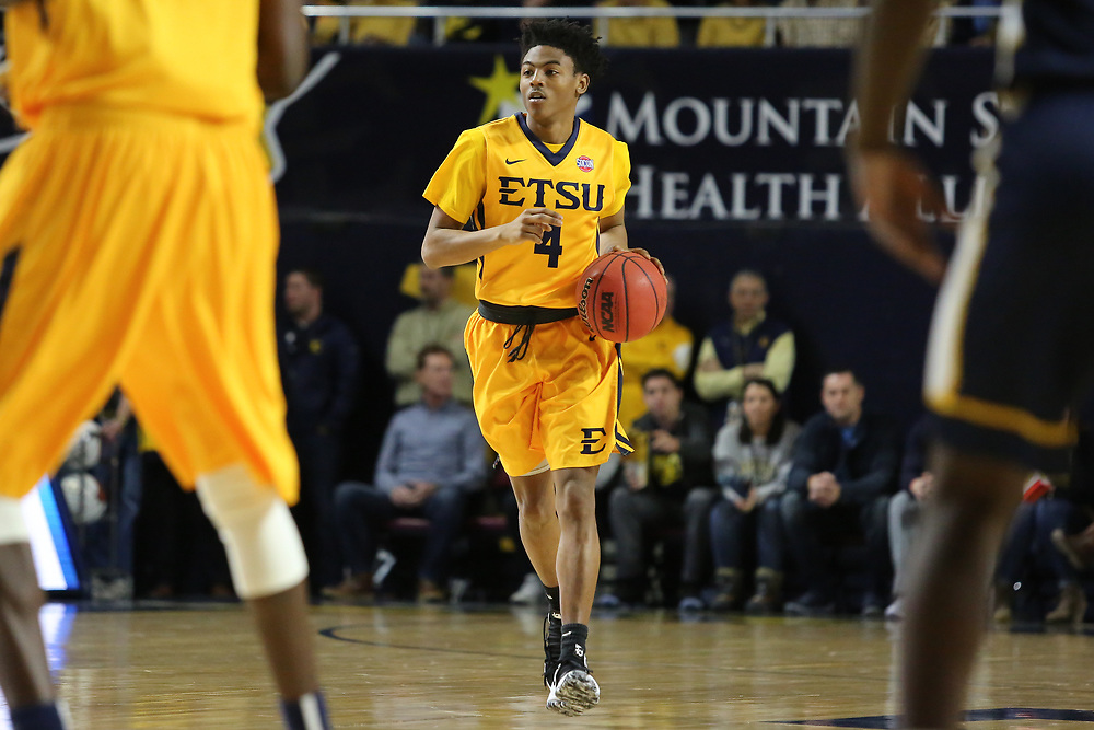 February 3, 2018 - Johnson City, Tennessee - Freedom Hall: ETSU guard Jason Williams (4)<br /> <br /> Image Credit: Dakota Hamilton/ETSU