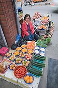 Haeundae Beach. The street market. Vegetables.