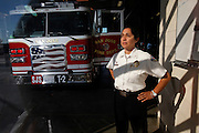 Patricia Tapia, the Battalion Chief for Fire Station 2 in San Jose, Calif., on Saturday, November 23, 2013.