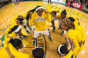 Norfolk State gets ready prior to the Norfolk State - Hampton 2013 MEAC women's basketball game at the Echols Hall in Norfolk, Virginia.  January 26, 2013  Hampton won 76-41.  (Photo by Mark W. Sutton)
