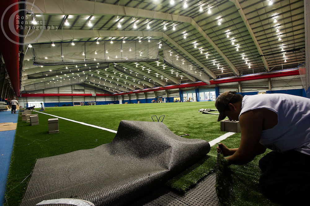 Jun 21, 2012 : Here, The Field House at Chelsea Piers features a 100-yard indoor turf field, divisible into four large fields..--.Images of Chelsea Piers in Stamford, CT -  a 400,000-square-foot sports and recreation facility slated to open in late June. The space is designed by the same architect who did the New York Chelsea Piers, Jim Rogers. But unlike the water views in New York, the space in Connecticut is land locked without interesting views. So instead of bringing the outside in, Rogers designed a facility that is full of windows on the inside so as you enter you can see into the space with open staircases and mezzanines. Credit: Rob Bennett for The Wall Street Journal Slug: NYCHELSEA