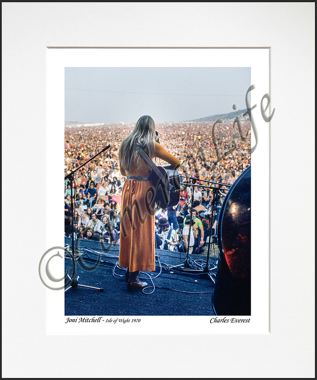 Joni Mitchell- An affordable archival quality matted print ready for framing at home.<br />