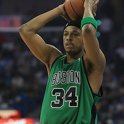 11 February 2009:  Boston Celtics forward Paul Pierce (34) during a NBA game between the Boston Celtics and the New Orleans Hornets at the New Orleans Arena in New Orleans, LA.