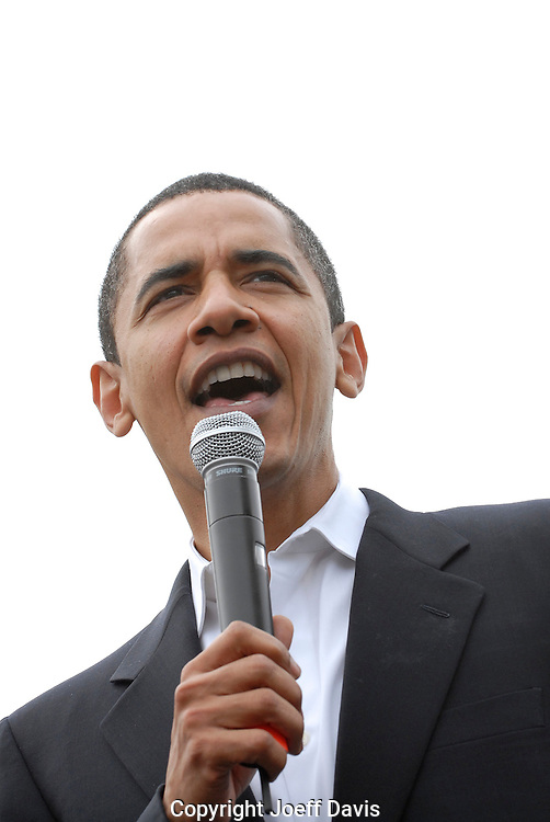 US Senator and Democratic Presidential candidate Barack Obama speaking at Georgia Tech in Atlanta, Georgia, April 14, 2007.