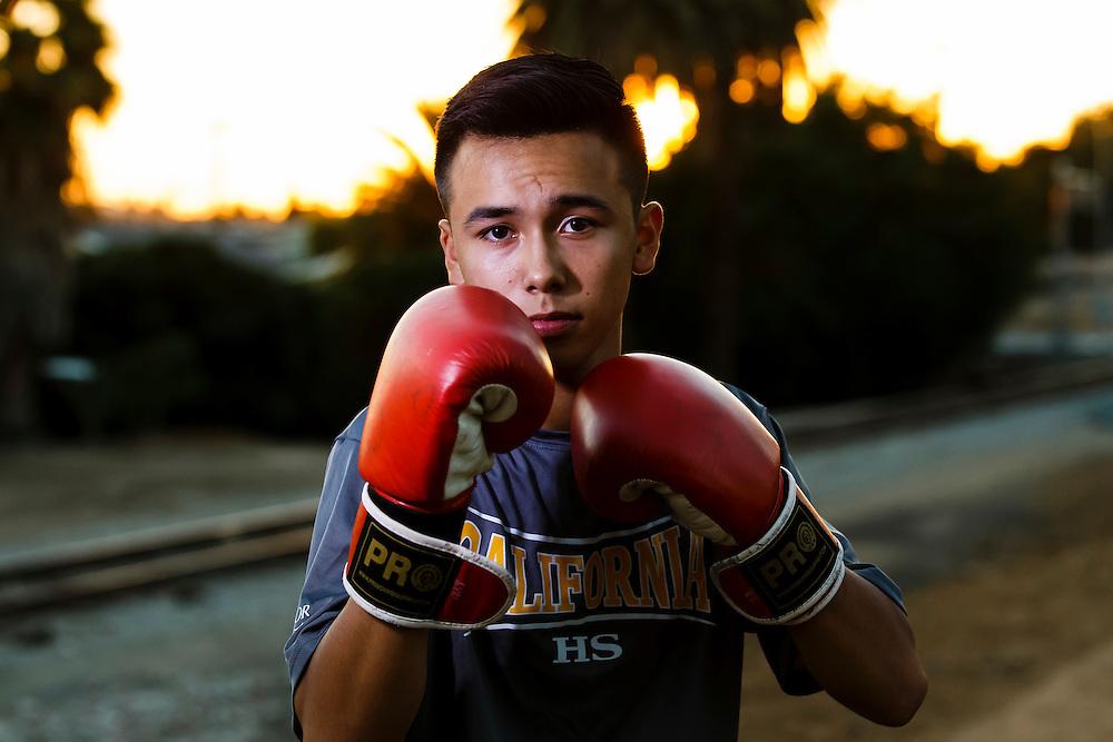 161103 Boxing, La Habra, Boxing Club<br /> Portrait, <br /> &copy; Daniel Malmberg/Sports Shooter Academy 13