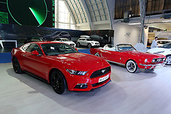 05.04.2016, Zagreb, CRO, Zagreb Auto Show, im Bild Ford Mustang // Press day at Zagreb fair before official opening of Zagreb Auto Show at Zagreb, Croatia on 2016/04/05. EXPA Pictures &copy; 2016, PhotoCredit: EXPA/ Pixsell/ Dalibor Urukalovic<br /> <br /> *****ATTENTION - for AUT, SLO, SUI, SWE, ITA, FRA only*****