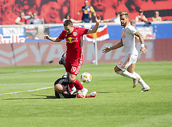 September 30, 2018 - Harrison, New Jersey, United States - Alex Muyl (19) of Red Bulls attacks during regular MLS game against Atlanta United FC at Red Bull Arena Red Bulls won 2 - 0  (Credit Image: © Lev Radin/Pacific Press via ZUMA Wire)