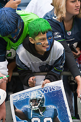 September 12, 2010; Seattle, WA, USA;  A Seattle Seahawks fan waits for autographs before the game against the San Francisco 49ers at Qwest Field. Seattle defeated San Francisco 31-6.